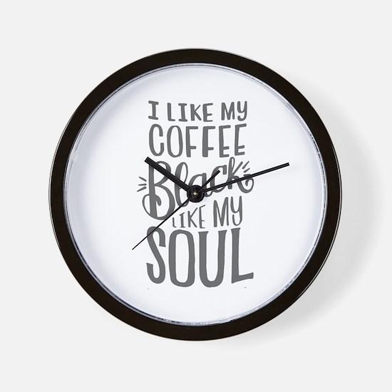 black coffee - 2 Wall Clock