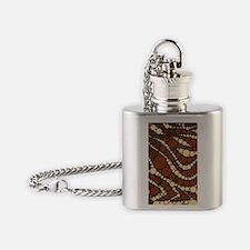 Cute Zebra pattern Flask Necklace
