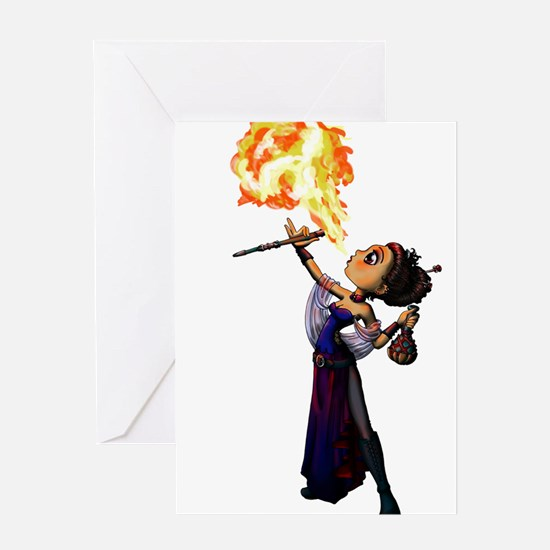 Fire Eater Greeting Cards