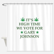 High Time We Vote Shower Curtain