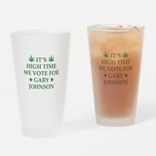 High Time We Vote Drinking Glass