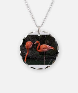 Standing Pink Flamingo's Necklace