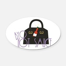 BYO Hot Sauce Oval Car Magnet