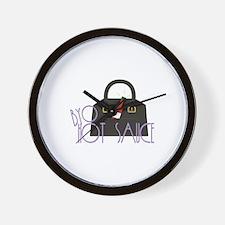 BYO Hot Sauce Wall Clock