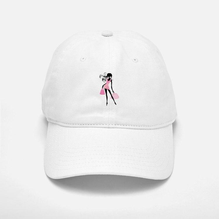 Fashion girl with handbag Baseball Baseball Cap