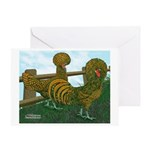 Golden Polish Chickens Greeting Card