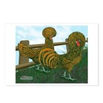 Golden Polish Chickens Postcards (Package of 8)