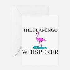 The Flamingo Whisperer Greeting Cards