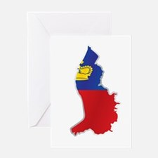 National territory and flag Liechte Greeting Cards