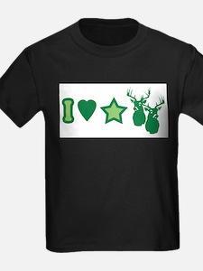 I Love StarBucks Ash Grey T-Shirt
