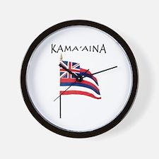 Native Born Hawaiian Wall Clock