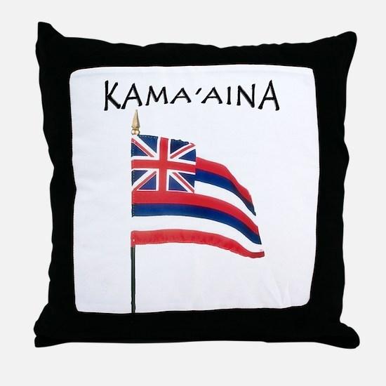 Native Born Hawaiian Throw Pillow