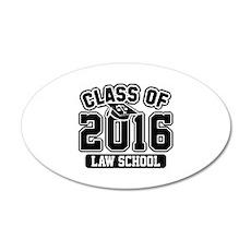 Class Of 2016 Law 22x14 Oval Wall Peel