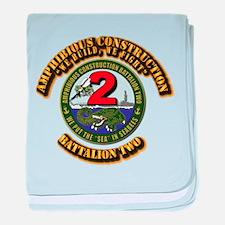 Amphibious Construction Battalion Two baby blanket