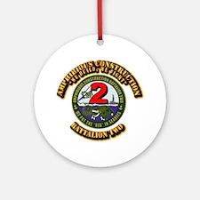 Amphibious Construction Battalion T Round Ornament