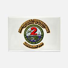 Amphibious Construction Battalion Rectangle Magnet