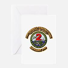 Amphibious Construction Battalion Tw Greeting Card