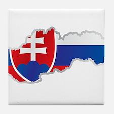 National territory and flag Slovakia Tile Coaster
