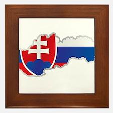 National territory and flag Slovakia Framed Tile