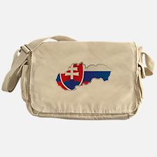 National territory and flag Slovakia Messenger Bag
