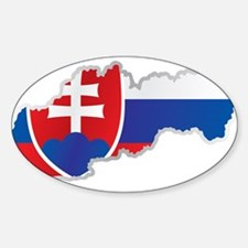 National territory and flag Slovakia Decal