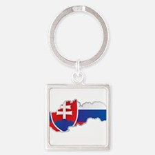 National territory and flag Slovakia Keychains