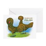 Golden Polish Fowl Greeting Cards (Pk of 20)