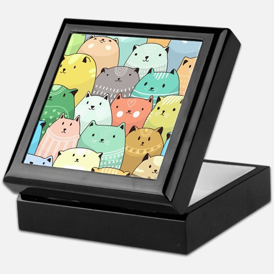 Cute Cats Keepsake Box