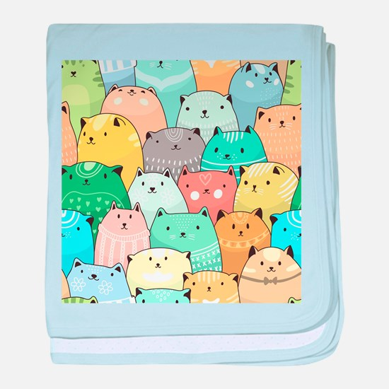 Cute Cats baby blanket