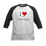 I Love My Teratologist Kids Baseball Jersey