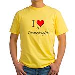 I Love My Teratologist Yellow T-Shirt