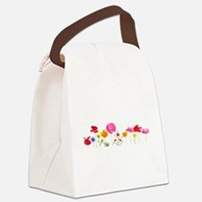 wild meadow flowers Canvas Lunch Bag