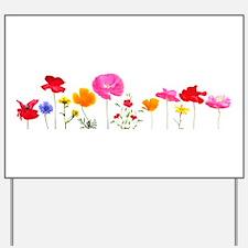wild meadow flowers Yard Sign