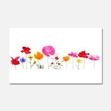 wild meadow flowers Car Magnet 20 x 12