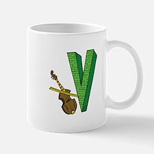 Kids Monogram V Mug