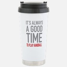 Play Handball Stainless Steel Travel Mug