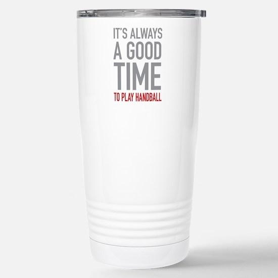 Play Handball Stainless Steel Travel Mug