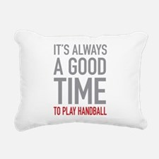 Play Handball Rectangular Canvas Pillow