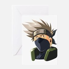 Kakashi avatar cartoon Greeting Cards