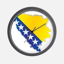 National territory and flag Bosnia and Wall Clock