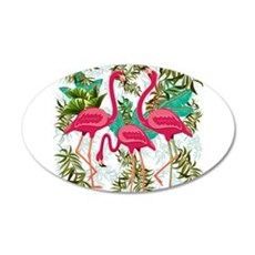Pink Flamingos Fabric Pattern Wall Sticker