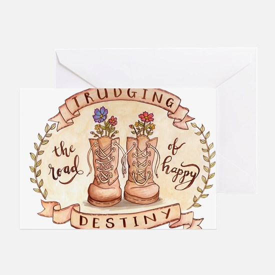 Trudging The Road Greeting Cards