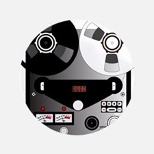 """Black and White Recorder 3.5"""" Button (100 pack)"""