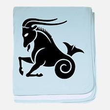 Capricorn zodiac sign baby blanket