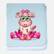 Baby Cow Ballerina baby blanket