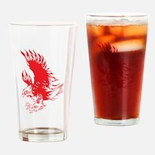Eagle tattoo design Drinking Glass