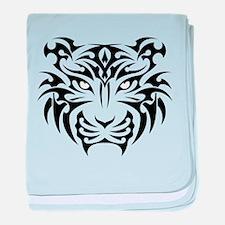 Tiger tattoo art baby blanket