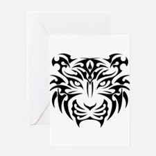 Tiger tattoo art Greeting Cards