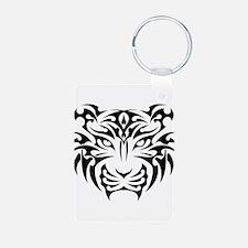 Tiger tattoo art Keychains