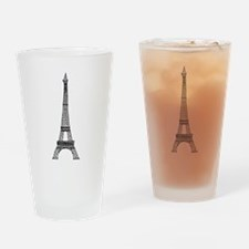 World famous Eiffel tower landmark Drinking Glass
